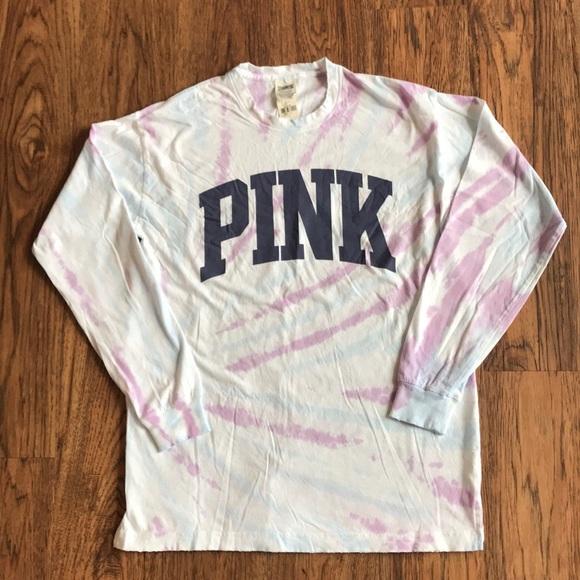 01872c2a4e74 PINK Victoria's Secret Tops | Victorias Secret Pink Tie Dye Top ...